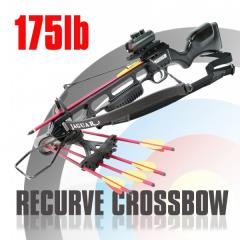 recurve crossbow black 175lb