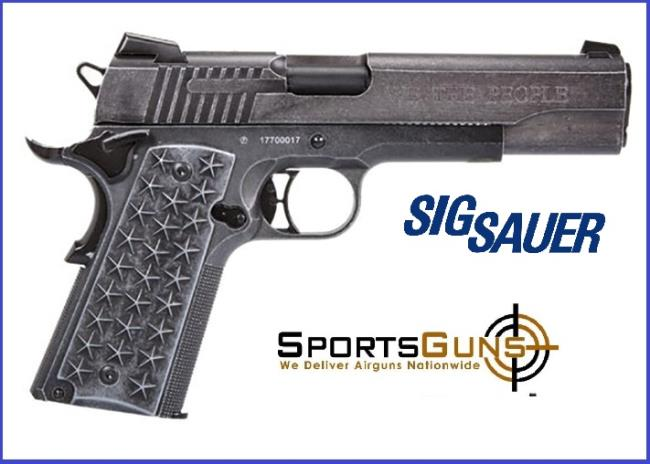 Sigsauer We The People Pistol Co2 1911 Blowback Target