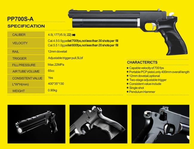 Air Compressor Pressure Regulator >> smk pp700sa,pcp pistol,precharged,open sights, | Sportsguns